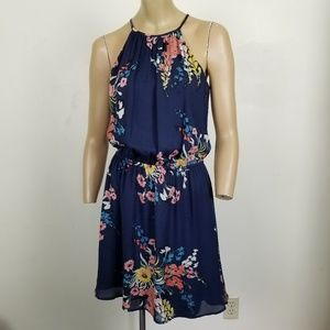 Joie Makana 100% Silk Cinch Waist Floral Dress XS